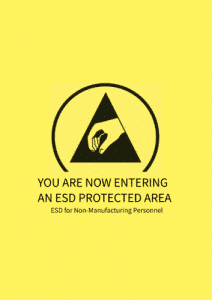 ESD CONTROL FOR NON-MANUFACTURING PERSONNEL